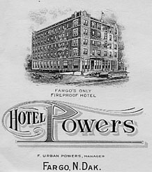 Powers Hotel letterhead