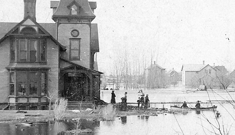 Evacuation by rowboat