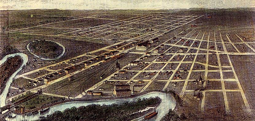 Map of Fargo in 1884 Fargo History