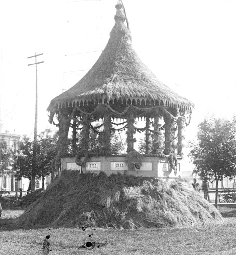 Decorated bandstand.