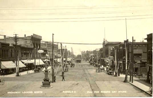 Broadway In 1909 Fargo History