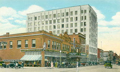 West side of Broadway looking north from First Avenue (after 1930).
