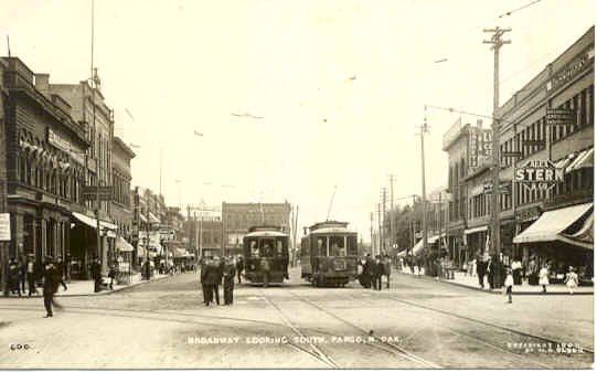 Broadway looking south, 1908