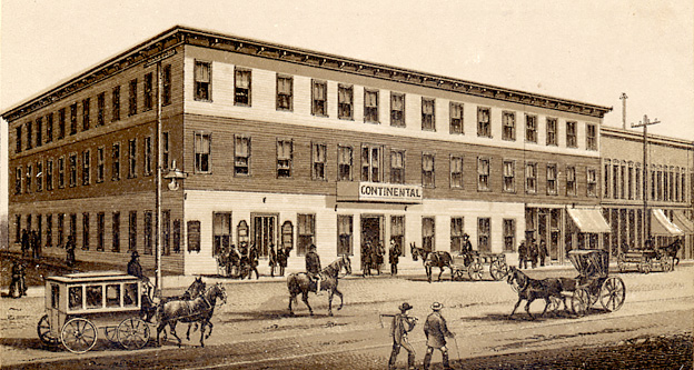 Continental Hotel in 1881.