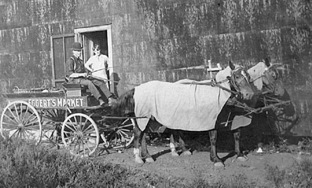 Eggert's Grocery delivery wagon.