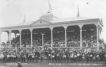 Fairgrounds grandstand.