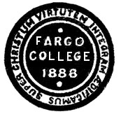 Fargo College seal.
