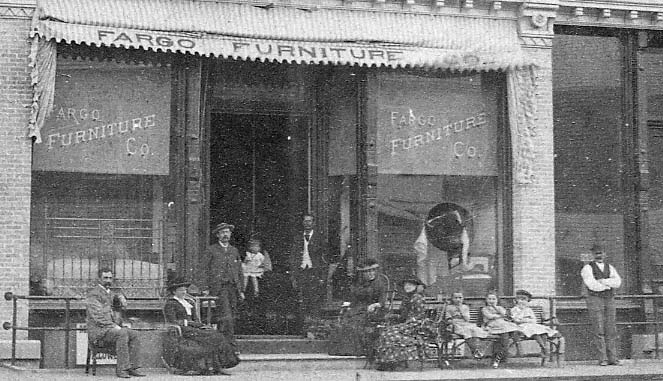 Fargo Furniture Company stereoview.