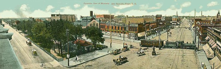 Downtown Fargo, July 1909