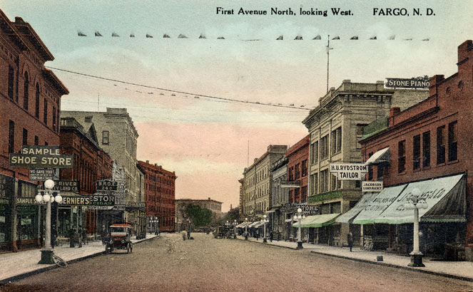 First Avenue In The 1910s Fargo History