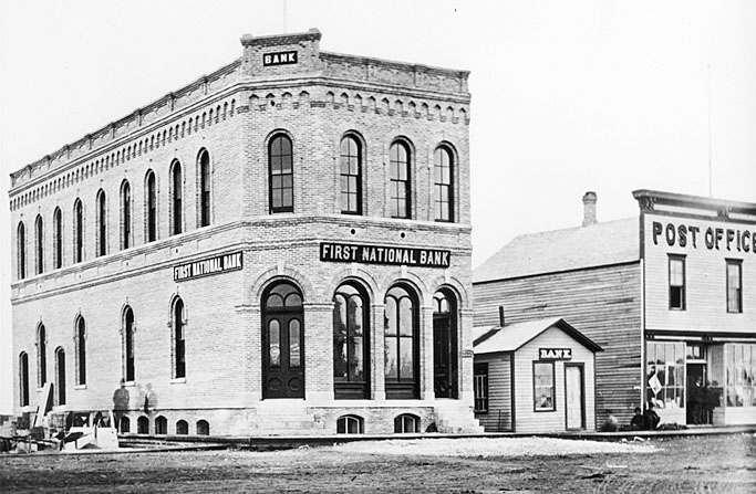 Old And New First National Bank Of Fargo Buildings Corner Broadway Front St 1878 2029810
