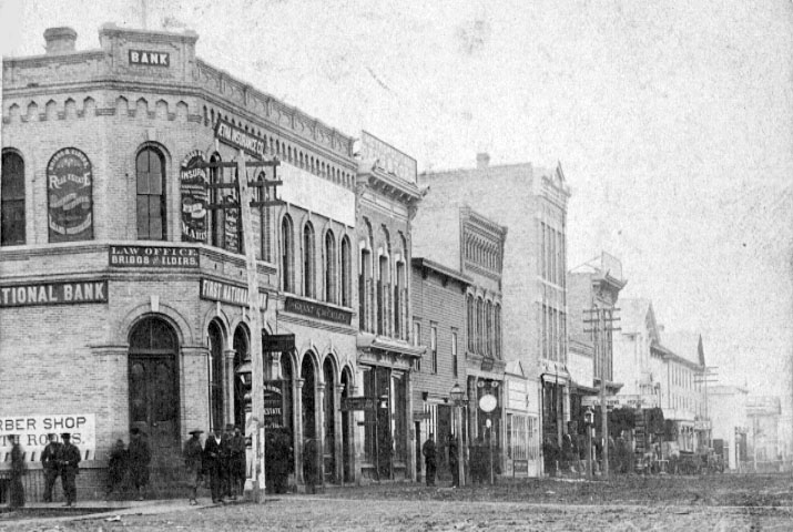 Front Street in 1879.