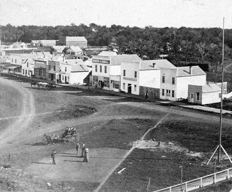 Front Street in 1876.