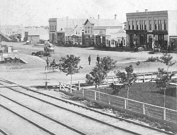Front Street in the 1880s.