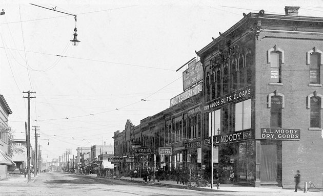 Front Street in 1909.0