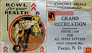 A matchbook from Grand Recreation.
