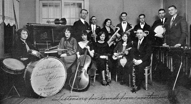Interstate Business College orchestra.