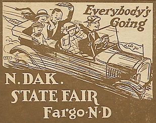 Cover of a 1920s Fair brochure.