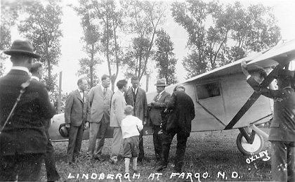 Lindbergh and plane.