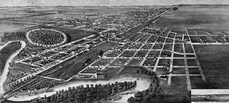 Map of Fargo in 1880 Fargo History