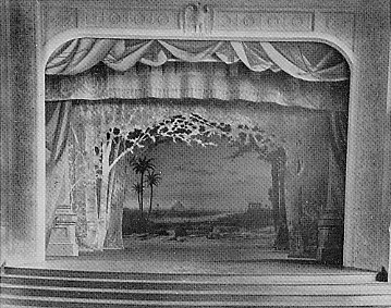 Masonic Temple stage.