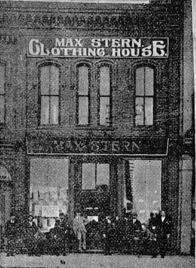 Max Stern Clothing House.