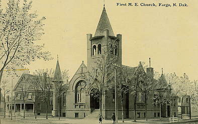First Methodist Church postcard.