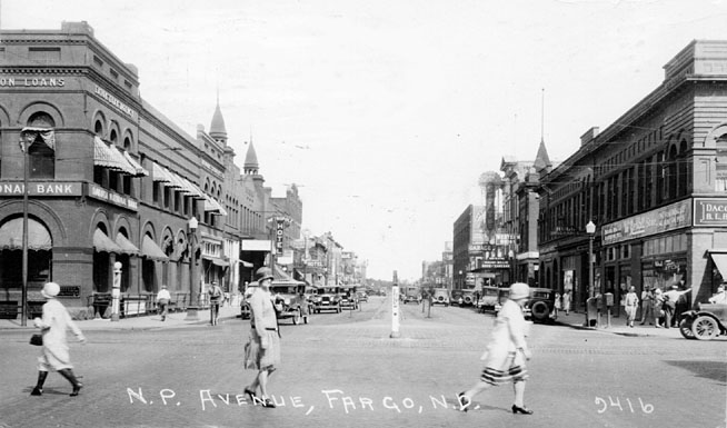 NP Avenue in 1929.