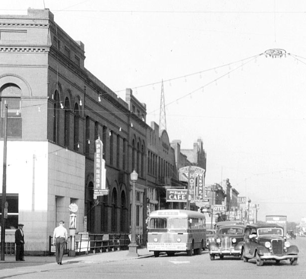 NP Avenue in the 1940s.
