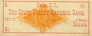 Red River Valley National Bank check.