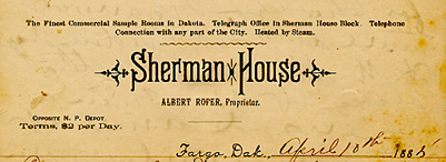 Sherman House letterhead.