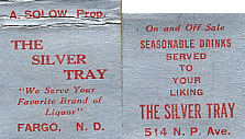 A matchbook from the Silver Tray.