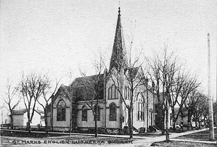 St. Mark's English Lutheran Church, 1886-1910.