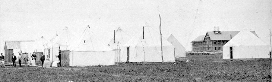 Tents and Headquarters Hotel.