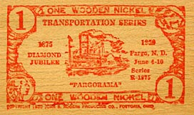 Wooden nickel.